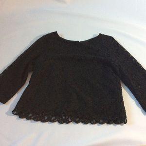 H&M lace black top